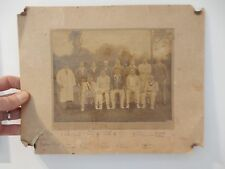 1930S THATCHAM CRICKET CLUB IN TATTY PHOTOGRAPH LARGE NAMES 300 X 230 mm