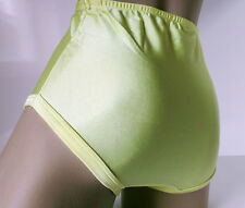 YELLOW Nylon Spandex Sports Netball Gym Panties Knickers Briefs  UK M 12/14