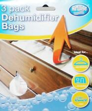 New 3 Pack Dehumidifier Bags Sachets For Home Office Car Wardrobes Caravans