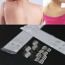 1 Pair Adjustable Invisible Transparent Clear Bra Shoulder Strap Metal Hook 1CM