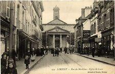 CPA   Lorient - Rue du Morbihan -Eglise St-Louis   (431019)