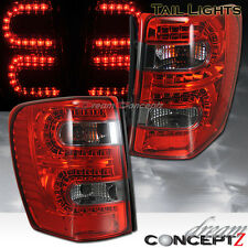 1999-2004 Jeep Grand Cherokee LED tail lights L.E.D Red & Smoked LENS PAIR