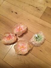 Brand New Four Wedding Flower Corsage/Broaches/Hair Pieces/Pale Peach/Pink