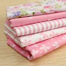 5 Piezas Rosa Paquetes Tela Patchwork Algodón Retales Costura Retazos 54 x 50 cm
