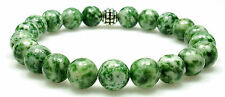 BRACELET - TREE AGATE 8mm Round Crystal Bead with Description - Healing Stone