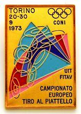 Spilla Campionato Europeo Tiro Al Piattello C.O.N.I - U.I.T. - F.I.T.A.V. Torino