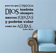 Vinyl Wall Decal. Christian. Bible. Vinilo decorativo: Isaias 40:31 V2 Biblia.