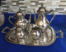 Gorgeous Sears Roebuck Silver Silverplated 5 Piece Tea Set