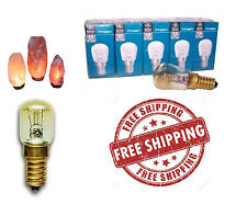 Himalayan Salt Lamp Light Bulb Small Screw Pack Of 3 240V 15W Clear