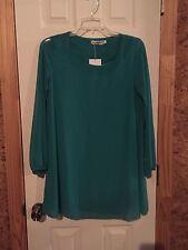 Green Chiffon Shift Dress Size Small Nwt St. Patty's