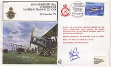 60th Anniversary Formation of No1 Flying School Commemorative Cover Pilot Signed