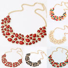 Fashion Jewelry Rhinestone Chunky Statement Bib Pendant Chain Choker Necklace