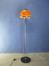 VINTAGE RETRO MID CENTURY 1960 1970 FLOOR LAMP ORANGE GLASS