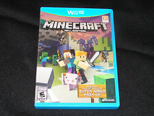 Minecraft: Wii U Edition (Nintendo Wii U, 2016) COMPLETE WITH FREE SHIPPING