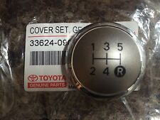 GENUINE TOYOTA AURIS GEAR KNOB CHROME CAP TOP ONLY 5 SPEED 2007 2008 2009