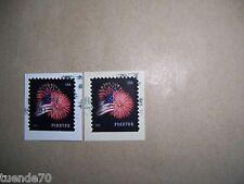 2 Briefmarken Flagge Sternenbanner USA 2014