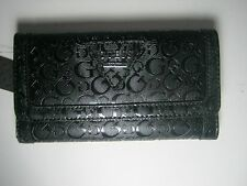 GUESS Women's Polished SLG Trifold Clutch Wallet Black New NWT