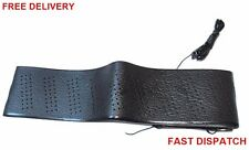 "Steering Wheel Cover Lace Up Soft Grip Leather-Look New Black Car Van Bus 13""-15"
