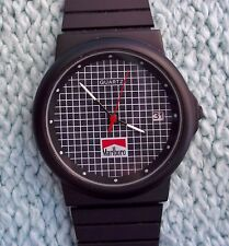 Vintage Men's Wristwatch Watch Marlboro Quartz Stainless Steel Matte Black Rare