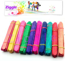 Ziggle colored Ice cream Sticks popsicle craft sticks 100 pcs