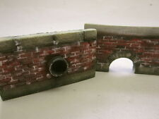 1/35 Scale Culvert walls - pack of 2 retaining walls with drains.