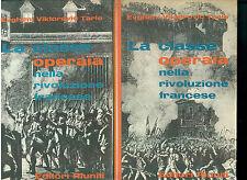 TARLE LA CLASSE OPERAIA NELLLA RIVOLUZIONE FRANCESE 2 VOLL. EDITORI RIUNITI 1960
