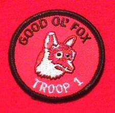 GOOD OL FOX Round Patrol Patch Wood Badge Course Cub Boy Scout beads BSA