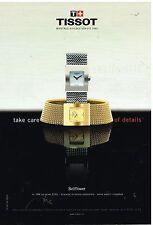 """Publicité Advertising 2001 Les Montres """"Bellflower"""" par Tissot"""
