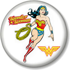 "Wonder Woman 25mm 1"" Pin Button Badge Lynda Carter DC Comics Retro TV Superhero"