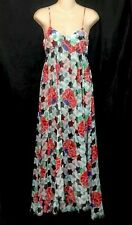 Chanel Dress Flower Print Silk Maxi Size 36 (2)