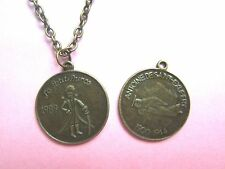 Bronze Plated 1989 Petite Prince Coin Double Sided Necklace New in Gift Bag