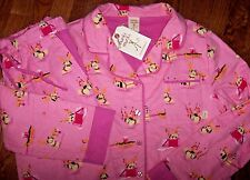 NWT Munki Munki Pink Cotton FLANNEL Pajama Set REINDEER DOGS XL Xmas Ornaments