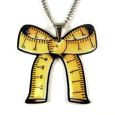Vintage Tape Measure Bow Necklace Gift Set, Sewing Vintage Jubly-Umph Seamstress
