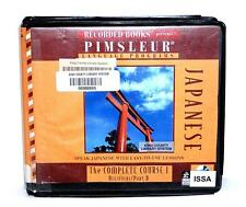 BOOK/AUDIOBOOK CD Language Instruction PIMSLEUR JAPANESE COMPLETE COURSE I/B