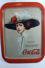 Hamilton King Gibson Girl Image Drink Delicious Coke Coca Cola Tin Tray 1971