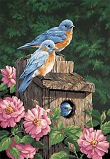Dimensions Needlecrafts Paintworks Paint By Number, Garden Bluebirds , New, Free