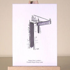 historical Theatre Royal Drury Lane drawing ~ London West End ACEO art card