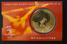 Olympic Games Collectable - Five Dollar Coin - Weightlifting - Sydney 2000