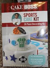 NEW 28pc CAKE BOSS icing bags SPORTS CAKE KIT mats CUTTERS guides TIPS stainless
