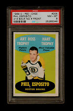 1969 PHIL ESPOSITO OPC #205 #214 BACK NO# FRONT PSA *8* (ONLY 6 HIGHER) CANADA $