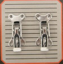 Lockable Car Boot Bonnet Toggle Fasteners Catch CHROME