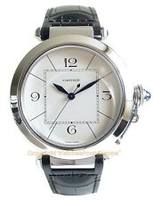 CARTIER PASHA 42 Steel Automatic Mens Watch W3107255 Box/Papers Retail $7900