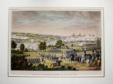 c1830 Dresden 1813 Battle of Dresden Napoleon Napoleonica Kolor. Kupfer Bovinet