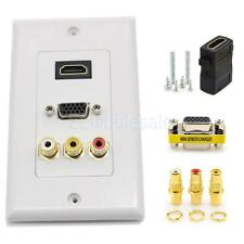 Organization Wall Plates Panel HDMI VGA 3RCA Audio Video Adapter Wall Plate
