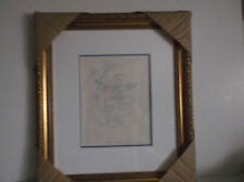 Guillaume Azoulay Horse Pen & Ink Drawing Etude Pour Fenetre Sharbit 1991 Framed