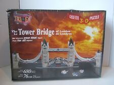 The Tower Bridge of London Tri Di Sealed 3D Jigsaw Puzzle New in Damaged Box