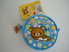 RARE !! SANRIO SAN-X RILAKKUMA COIN PURSE / BAG / WALLET + A RARE CHARM ZIPPER