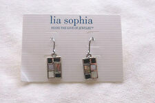 Lia Sophia SHERIDAN Silver Mother-of-Pearl & Abalone Earrings