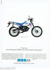 PUBLICITE ADVERTISING 046  1988   la moto MBK ZX 50