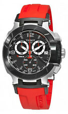 Tissot T0484172705701 T-Race Men's Red Rubber Chronograph Watch- New & Authentic